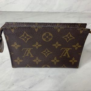 "Louis Vuitton Monogram Toiletry 15, 6""x 4""x 1.5"""